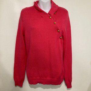 Lilly Pulitzer M Salmon Pink Cotton Sweater